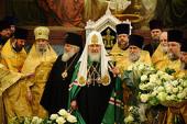 Святейший Патриарх Кирилл принял поздравления от епископата и духовенства Русской Православной Церкви