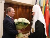 Председатель Правительства России В.В. Путин поздравил Предстоятеля Русской Церкви с годовщиной интронизации
