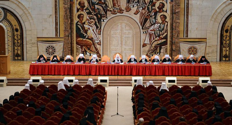 Архиерейское совещание в Храме Христа Спасителя