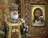 Слово Святейшего Патриарха Кирилла за Божественной литургией в Высоко-Петровском монастыре в субботу первой седмицы Великого поста