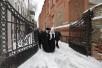 Посещение Святейшим Патриархом Кириллом Московского епархиального дома в Лиховом переулке