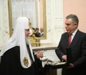 Святейший Патриарх Кирилл посетил прием в посольстве Греции по случаю недели Торжества Православия