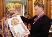 Глава ОАО «РЖД» В.И. Якунин награжден орденом свт. Иннокентия Православной Церкви в Америке