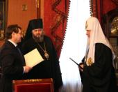 Встреча Святейшего Патриарха Кирилла с епископом Кемеровским Аристархом
