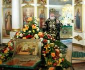 В неделю 4-ю Великого поста Святейший Патриарх Кирилл возглавил Божественную литургию в Троицком соборе Свято-Данилова монастыря