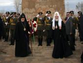 Святейший Патриарх Кирилл и Католикос всех армян Гарегин II почтили память русских воинов, погибших в боях за освобождение Армении