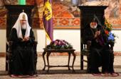 В главной резиденции Первопрестольного Святого Эчмиадзина состоялась официальная церемония приветствия Святейшего Патриарха Кирилла