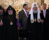 Приветственная речь Святейшего Патриарха Кирилла в кафедральном соборе Эчмиадзина