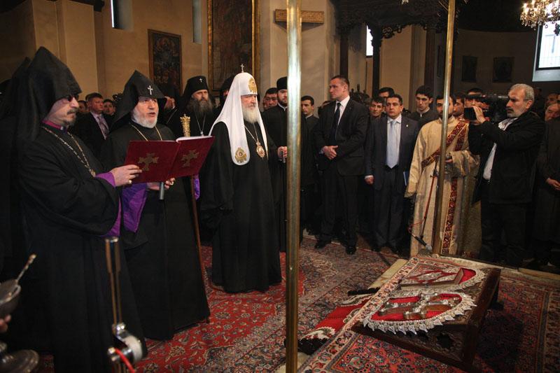 Патриарший визит в Армению. День третий. Церемония прощания в кафедральном соборе Эчмиадзина.