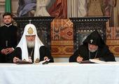 Святейший Патриарх Кирилл и Католикос всех армян Гарегин II подписали совместную декларацию
