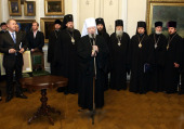 Блаженнейший митрополит Владимир принял участие в презентации полного собрания сочинений Николая Гоголя