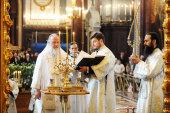 В Великую субботу Предстоятель Русской Церкви совершил Литургию св. Василия Великого в Храме Христа Спасителя