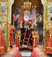 В праздник Светлого Христова Воскресения Святейший Патриарх Кирилл возглавил Божественную литургию в Храме Христа Спасителя