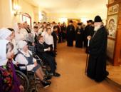 В день праздника Пасхи Святейший Патриарх Кирилл посетил детский дом-интернат для умственно отсталых детей № 15