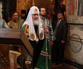 Слово Святейшего Патриарха Кирилла после Божественной литургии в праздник Благовещения Пресвятой Богородицы