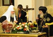 В Александрии прошла встреча Святейшего Патриарха Кирилла с Патриархом Коптской Церкви Шенудой III