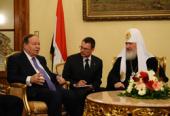 Святейший Патриарх Кирилл встретился с председателем Народной Ассамблеи Египта, президентом ассоциации «Египет — Россия» Фатхи Суруром