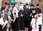 Святейший Патриарх Кирилл совершил молебен на подворье Русской Православной Церкви в Каире