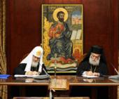 Состоялись переговоры Святейшего Патриарха Московского и всея Руси Кирилла с Блаженнейшим Папой и Патриархом Александрийским Феодором II