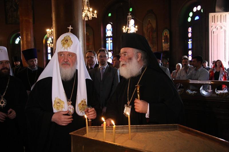 Визит Предстоятеля Русской Церкви в Александрийский Патриархат. Посещение монастыря святого Георгия в Каире.