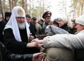 Предстоятель Русской Православной Церкви посетил Алапаевский монастырь во имя свв. Новомучеников и исповедников Российских