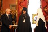 Святейший Патриарх Кирилл встретился с главой Приднестровья И.Н. Смирновым