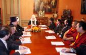 Состоялась встреча Святейшего Патриарха Кирилла с членами президиума Межрелигиозного совета России