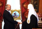 Святейший Патриарх Кирилл встретился с послом Южной Осетии Д.Н. Медоевым