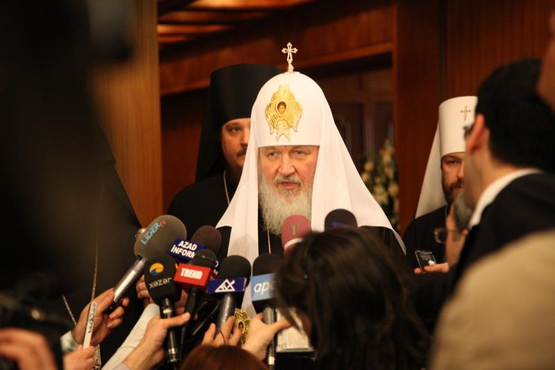 Визит Святейшего Патриарха Кирилла в Азербайджан. Трехсторонняя встреча религиозных лидеров России и Закавказья.