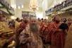 Патриарший визит в Белгородскую епархию. Великое освящение и Литургия в храме во имя свв. мцц. Веры, Надежды, Любови и матери их Софии на Харьковской горе в Белгороде.