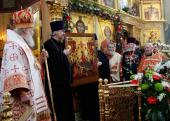 В день памяти святого великомученика Георгия Победоносца Святейший Патриарх Кирилл совершил Божественную литургию в Свято-Георгиевском храме на Поклонной горе