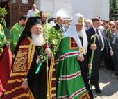 В день Святой Троицы Предстоятели Константинопольской и Русской Православных Церквей совершили Божественную литургию в Свято-Троицкой Сергиевой лавре