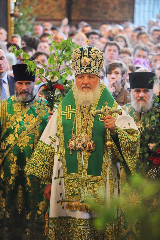 Служение Святейшего Патриарха Константинопольского Варфоломея и Святейшего Патриарха Московского и всея Руси Кирилла в Троице-Сергиевой лавре