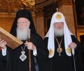 Святейший Патриарх Константинопольский Варфоломей вознес молитву в Александро-Невской лавре