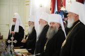 В Санкт-Петербурге под председательством Святейшего Патриарха Кирилла открылось заседание Священного Синода Русской Православной Церкви
