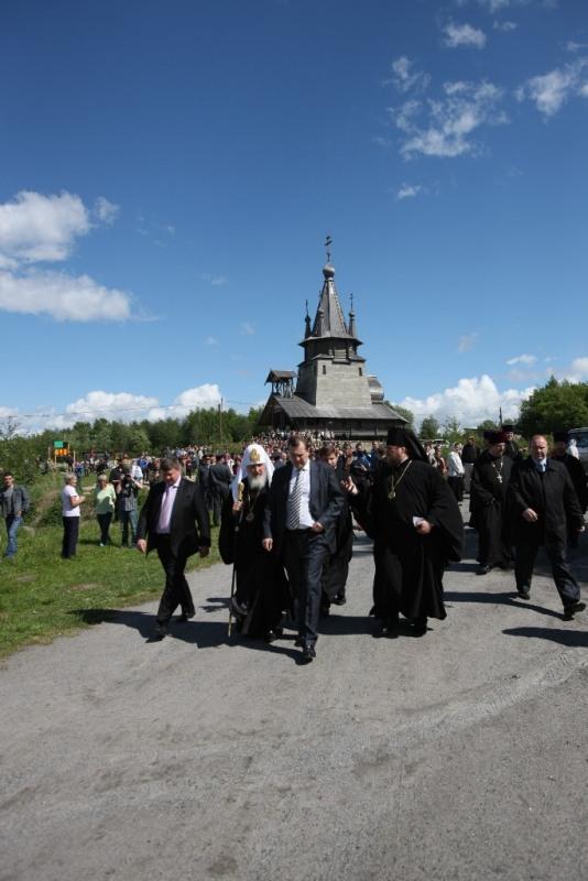 Первосвятительский визит в Карельскую епархию. Посещение Беломорско-Балтийского канала.