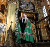 Слово Святейшего Патриарха Кирилла после утрени в Свято-Успенском соборе Смоленска
