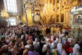 Предстоятель Русской Церкви совершил утреню в Свято-Успенском кафедральном соборе Смоленска