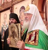 Слово Святейшего Патриарха Кирилла после Божественной литургии в Троицком соборе Свято-Троицкого Болдинского монастыря