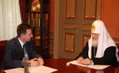 Святейший Патриарх Кирилл встретился со статс-секретарем — заместителем министра внутренних дел Российской Федерации С.П. Булавиным