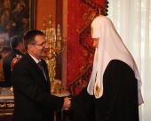 Состоялась встреча Предстоятеля Русской Православной Церкви с Послом Албании в Российской Федерации С. Гиокой