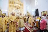 Святейший Патриарх Кирилл совершил чин великого освящения Екатерининского собора в Царском Селе