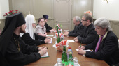 Святейший Патриарх Кирилл встретился с генеральным секретарем Всемирного Совета Церквей