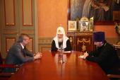 Святейший Патриарх Кирилл встретился с секретарем Организации Договора о коллективной безопасности Н.Н. Бордюжей