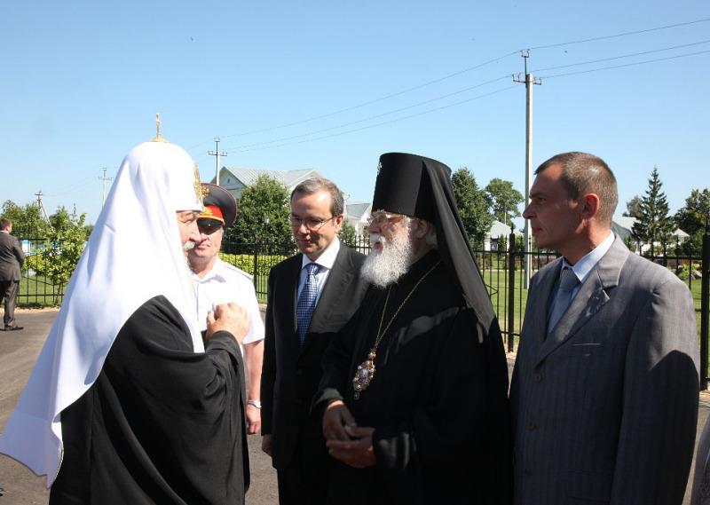 Патриарший визит в Тверскую епархию. Встреча Предстоятеля на границе Тверской области.