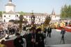 Патриарший визит в Тверскую епархию. Чин великого освящения и Божественная литургия в Успенском соборе Старицкого монастыря.