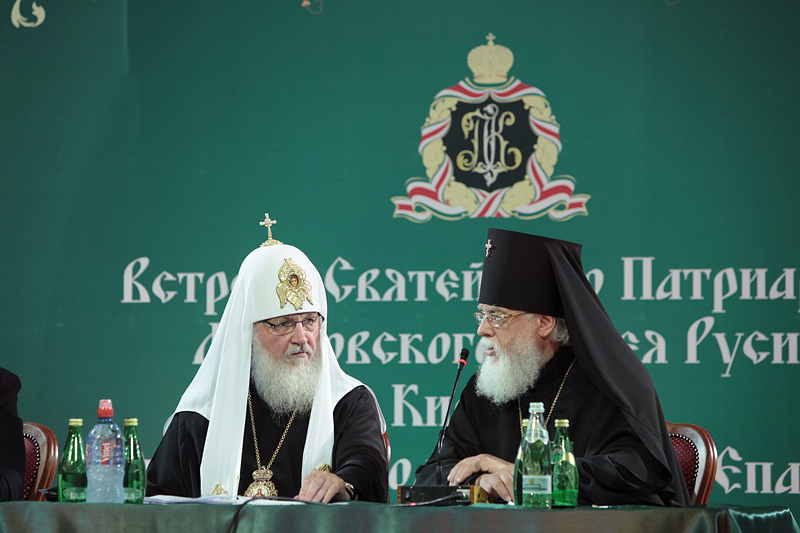 Патриарший визит в Тверскую епархию. Встреча с духовенством.