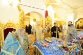 В праздник Владимирской иконы Божией Матери Святейший Патриарх Кирилл совершил Божественную литургию в домовом храме Патриаршей резиденции в Переделкине