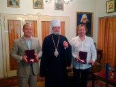 Предстоятель Православной Церкви Чешских земель и Словакии наградил двух граждан РФ высшей церковной наградой — большим орденом святых Кирилла и Мефодия