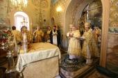 Святейший Патриарх Кирилл совершил чин великого освящения храма Рождества Иоанна Предтечи на Пресне